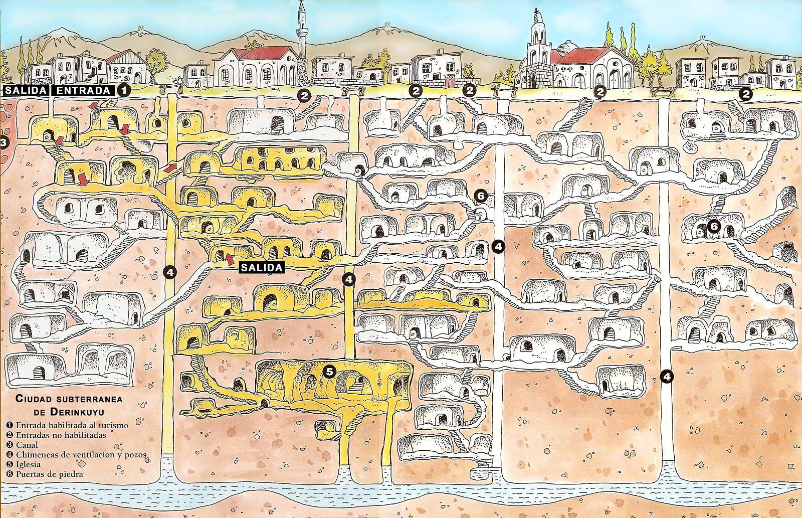 derinkuyu map Пет древних грађевина које уопште ни не би требало да постоје
