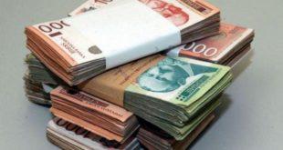 динари пад вредности