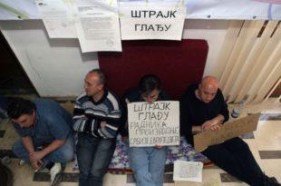 """Тројица радника """"Желвоза"""" штрајкују глађу"""