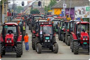 СЕЉАЧКА БУНА: Тракторска блокада путева у 107 градова 1