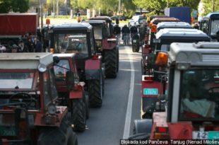 Тракторске блокаде у Војводини и централној Србији