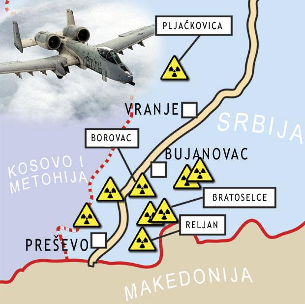 радиоактивне локације Србија