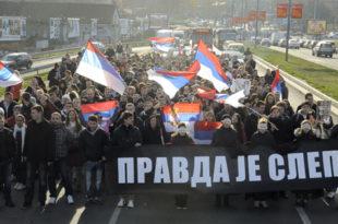 Београд: Протест студената због пресуда у Хагу