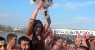 Пливали за Часни крст, девојка прва у Чачку