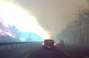 Ј. Кореја: Пожар гута град (видео)