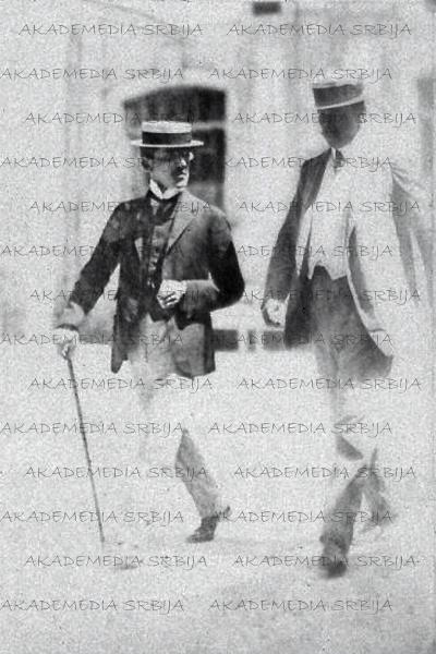 Краљ Александар I. у једној од инкогнито посета у Бијарицу