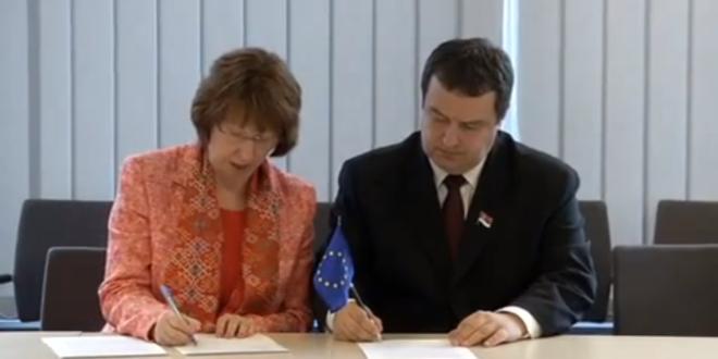 Потпис на велеиздају Србије (видео)