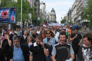 Београд: Протест против велеиздаје Србије (фото галерија)
