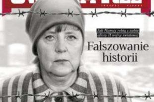 Слика Ангеле Меркел као логорашице покренула вербални рат Пољске и Немачке