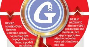 """Истрага о """"Галеници"""" води ка моћницима из врха СПС 9"""