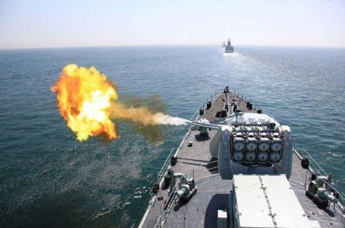 Шест група руских војних бродова на вежби у Охотском мору 1