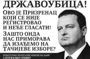 Државоубици Дачићу је касапин Тачи добар и нормалан човек а Косово и Метохија су мит приземних Срба