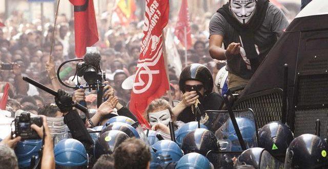 У Риму жестоке демонстрације