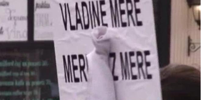 Протест здравствених радника у Новом Саду