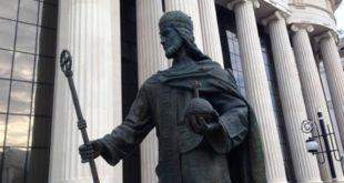 Скопље: Склањају споменик цара Душана 8