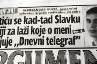 """Вучић: Осветићу се кад тад Славку Ћурувији за лажи које о мени објављује """"Дневни телеграф"""""""