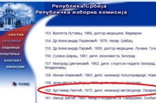 Крстимир Пантић продао и издао Србе на Косову па отишао у Лазаревац да се бави политиком на листи СНС 1