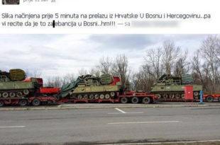 НАТО из Хрватске пребацује тенкове у Босну и Херцеговину (фото)