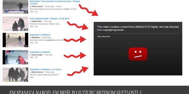 ЕКСКЛУЗИВНО! Бугарска фирма из Беча цензурише видео филмове о Александру Вучићу на ЈУТУБУ!
