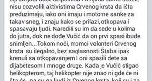 Забранили Црвеном крсту Србије да спасава људе из сметова како би могли да сликају Вучића! 6