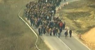 Радници Јумка у блокади аутопута! (видео) 4