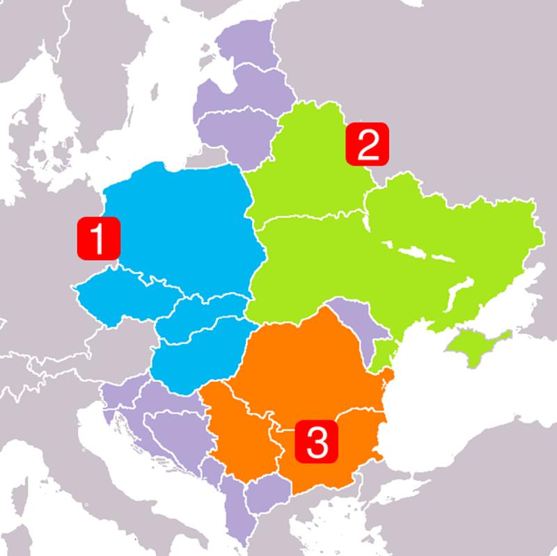1. Вишеград 2. Дњепар 3. Балкан