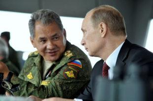 """Путин и Шојгу посматрали падобранце како уништавају """"непријатељски командни пункт"""""""