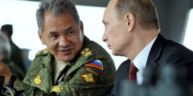 """Путин и Шојгу посматрали падобранце како уништавају """"непријатељски командни пункт"""" 1"""