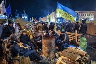 Први протести против кијевсе хунте на Мајдану због страховите социјалне ситуације у Украјини!