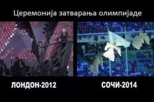 Фотографија дана: церемонија затварања олимпијских игара