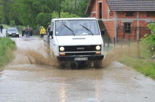Поплава прекинула пут Неготин - Кладово