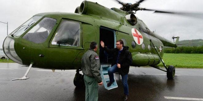 БЕЖАНИЈА! Вучић у страху од протеста, бежи на НБГД и захтева да стално дежура хеликоптер испред палате Србија 1
