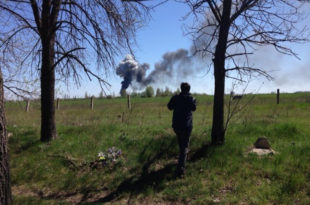ХИТНО! Народна одбрана Славјанска је оборила хеликоптер украјинске ЕУ-наци хунте