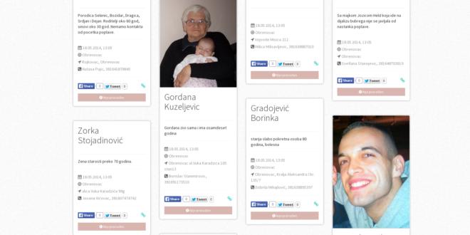 26 веб страна несталих, углавном из Обреновца 1
