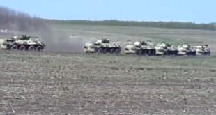 Покрети руских оклопно-механизованих јединица у близини границе са Украјином (видео) 9