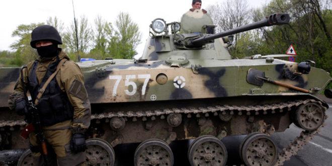 Плаћеници кијевске ЕУ-наци хунте  отворили артиљеријску ватру на Славјанск! 1