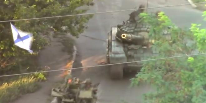 КОНТРАОФАНЗИВА: Колона моторизоване бригаде Новорусије у Свердловску (видео)