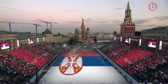 """ПОГЛЕДАЈТЕ: """"Марш на Дрину"""" изведен на московском Црвеном тргу! (видео)"""