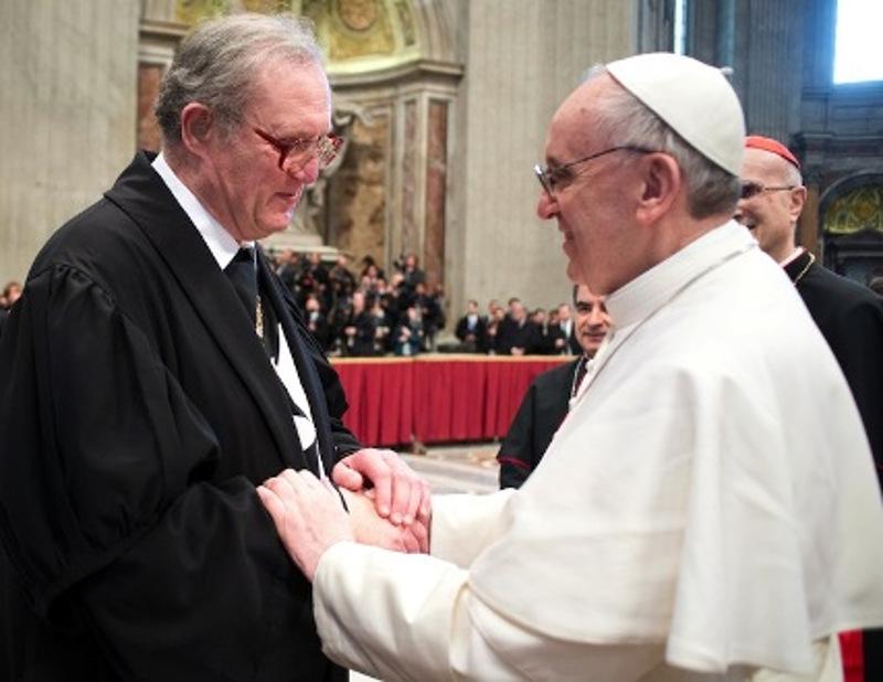 Велики мајстор Малтешког реда фра Метју Фестинг и папа Франциско