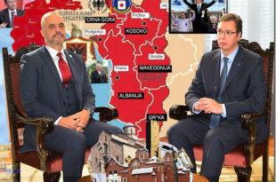 САКАЋЕЊЕ СРБИЈЕ: Како Вучићев режим новцем српских пореских обвезника здушно помаже стварање велике Албаније