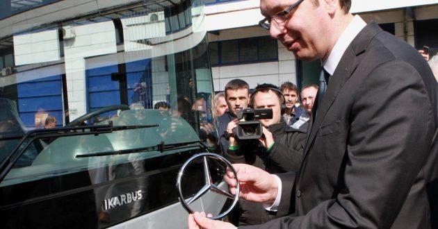 Икарбус ни после седам месеци од Вучићевог обећања није произвео ниједан нови аутобус са знаком Мерцедеса 1
