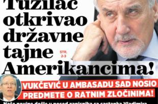 СКАНДАЛ: Тужилац за ратне злочине Вукчевић откривао државне тајне Американцима!