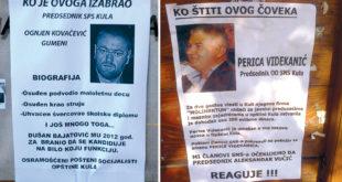 Кула: Плакатима прозивају корумпиране општинске челникеис СНС и СПС!