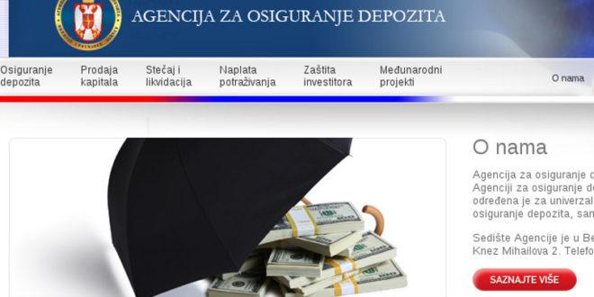 Да ли има корупције у Агенцији за осигурање депозита? 1