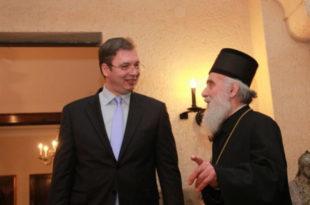 """Патријарх Иринеј похвалио рад Вучићеве владе за """"препород државе""""?! 10"""