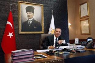 Бомбом и рафалном паљбом по Ердогановој канцеларији (видео)