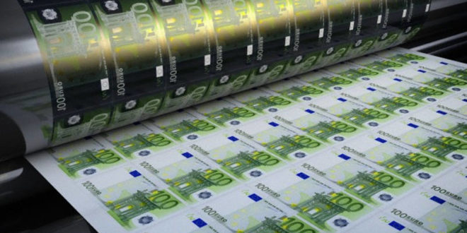 ЕЦБ наставља са штампањем евра, план је да се у наредних девет месеци одштампа још 540 млрд € 1