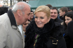 """Гласови се још броје, али будућа хрватска председница Колинда слави победу """"уз усташу Томсона и тамбураше"""""""
