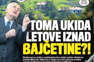 ЗАБРАЊЕНА ЗОНА: Николић укида летове изнад Бајчетине јер му смета бука авиона
