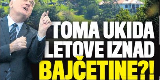 ЗАБРАЊЕНА ЗОНА: Николић укида летове изнад Бајчетине јер му смета бука авиона 1
